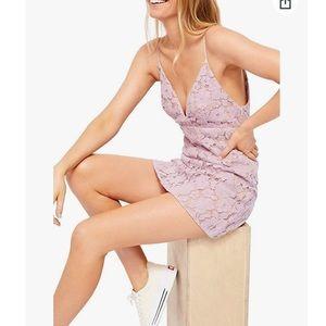Free People Love Lace Mini Dress  in Wisteria